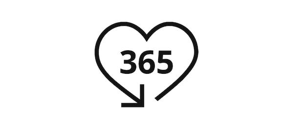 سياسة الإرجاع خلال 365 يوم