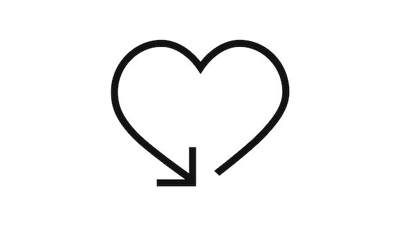 Sydän jossa nuoli, palautusikoni
