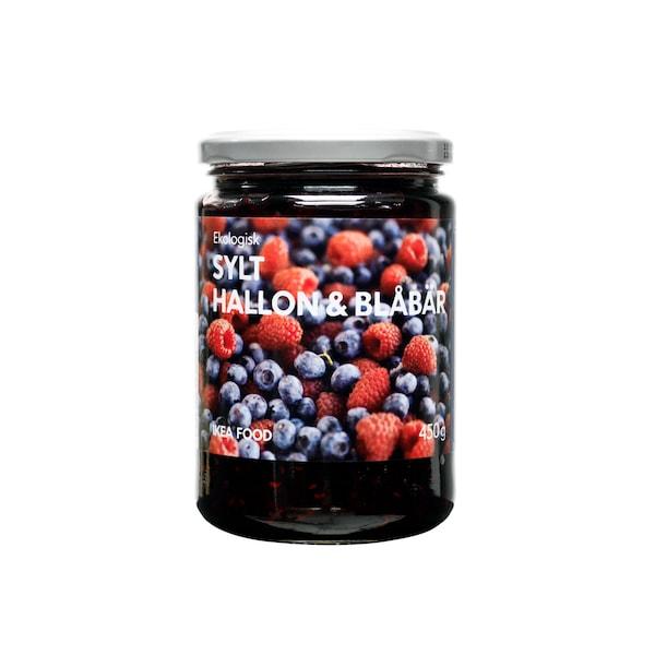 SYLT HALLON & BLÅBÄR Raspberry & blueberry jam, organic, 450g