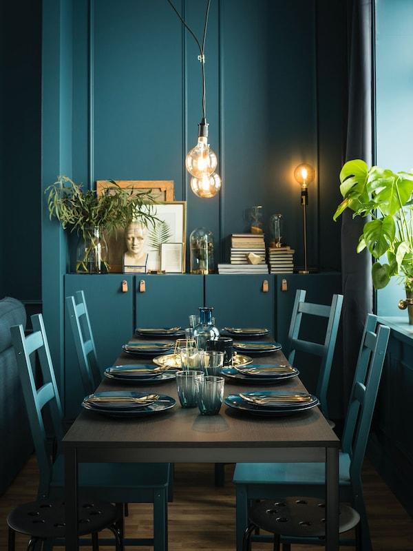 table 110x67 cm black