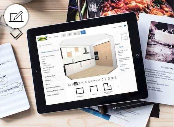 Tablet i aplikacja online do planowania
