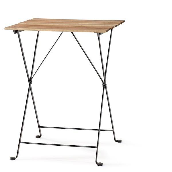 TÄRNÖ Stůl, venkovní, akácie černá, šedohnědé mořidlo ocel světle hnědé mořidlo, 55x54 cm.
