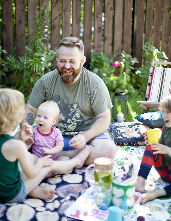 Take a picnic lunch into the garden