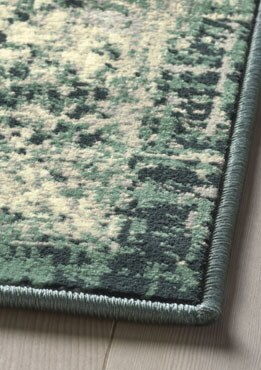 Tapis à poil ras vert, 5pi7pox7pi7po (170x230cm)