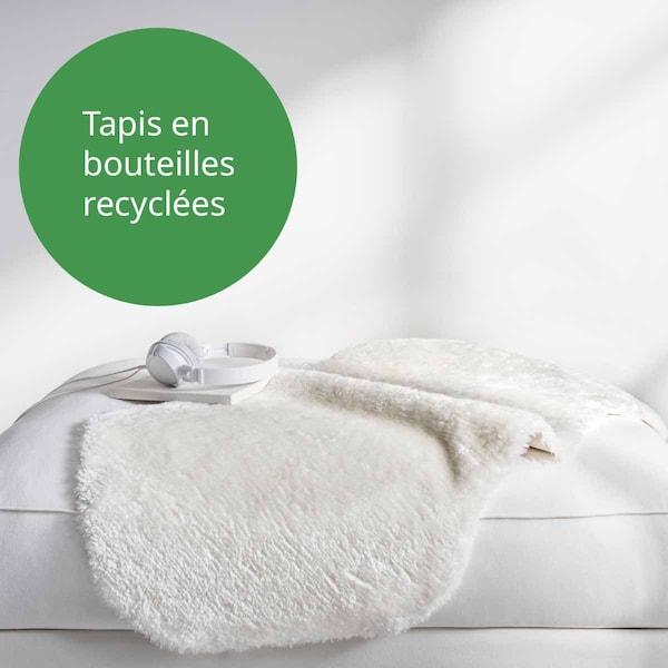 Tapis blanc toftlund en polyester recyclé