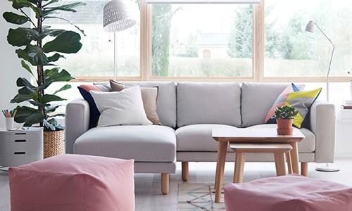 Tempat duduk ruang tamu mesra keluarga - NORSBORG planner