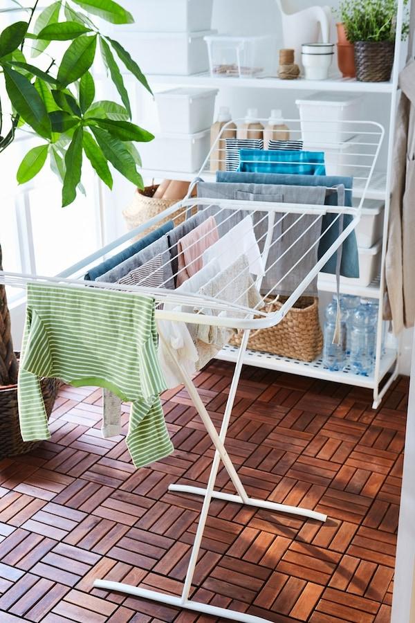 tendedero plegable ikea para pisos pequeños
