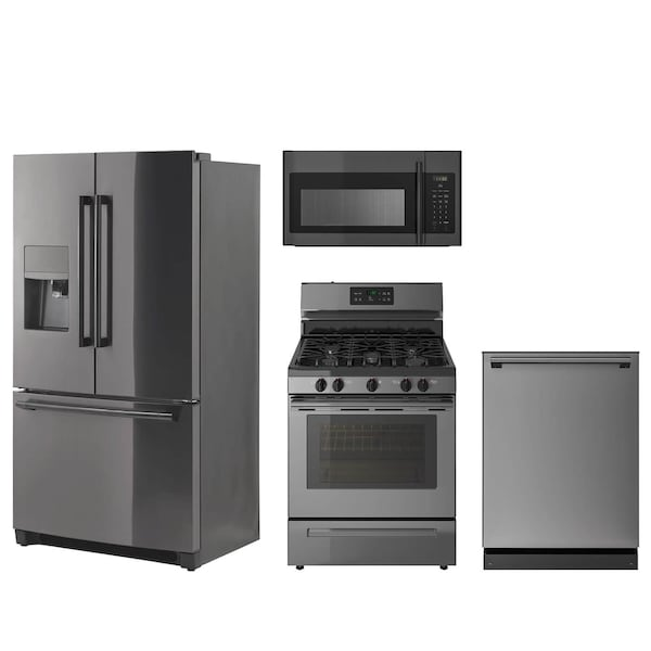 The Black Stainless Steel Appliance Package