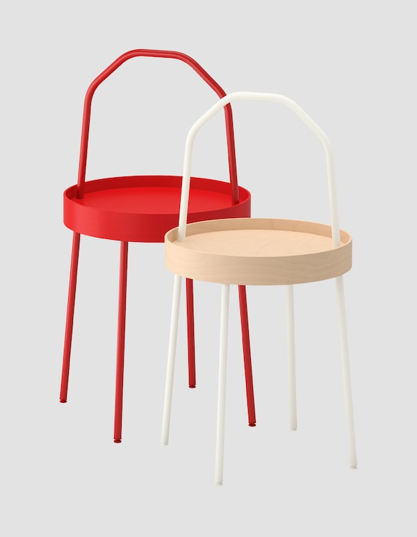 The new burvik portable side table and the ikea designer who created it ikea - Table couture ikea ...
