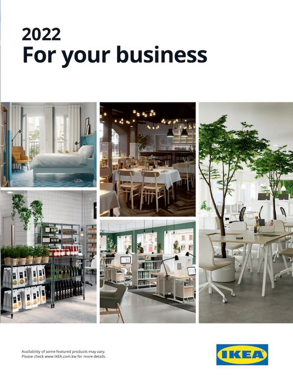 The cover of an IKEA B2B brochure.