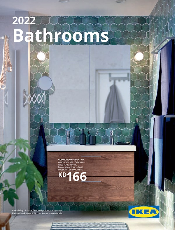 The cover of an IKEA bathroom brochure.