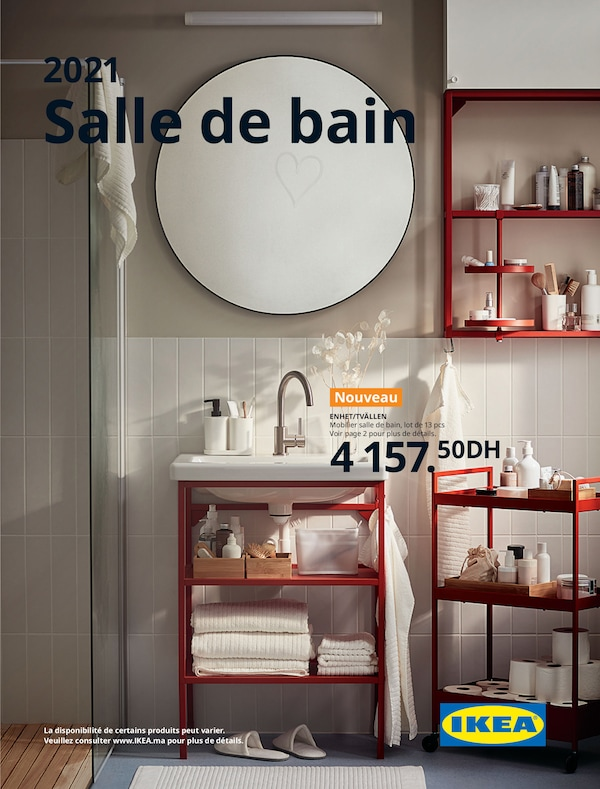 The cover of an IKEA Bathroom brochure