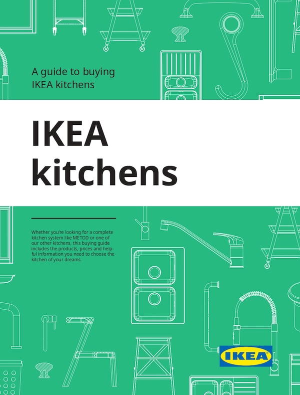 The cover of an IKEA kitchens buying guide
