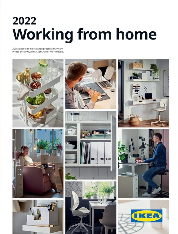 The cover of an IKEA wroking from home brochure.