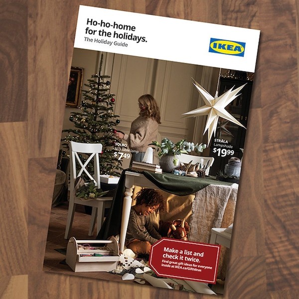The cover of the IKEA Gift guide flyer