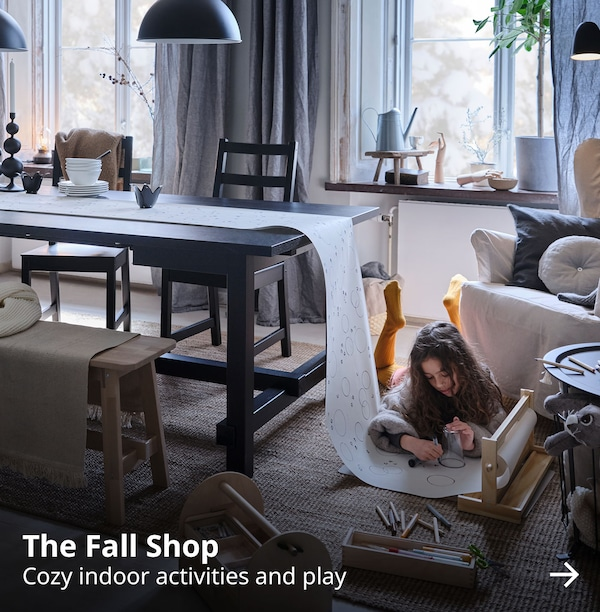 The Fall Shop. Welcome fall with cozy indoor activities and play.