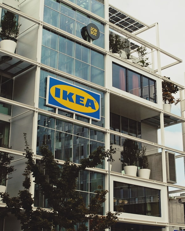 The front of the new IKEA store in Vienna.