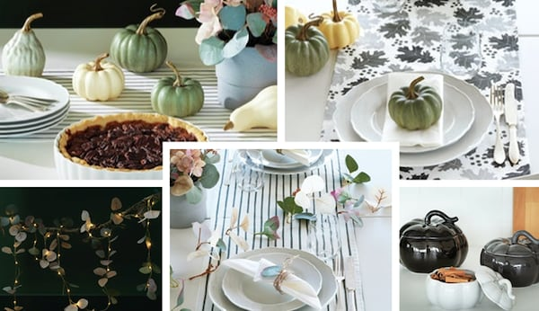 The HÖSTPROMENAD collection highlights shades of warm browns, rich citrus hues, leafy prints with décor and textile.