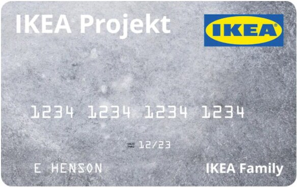 The IKEA Projekt credit card