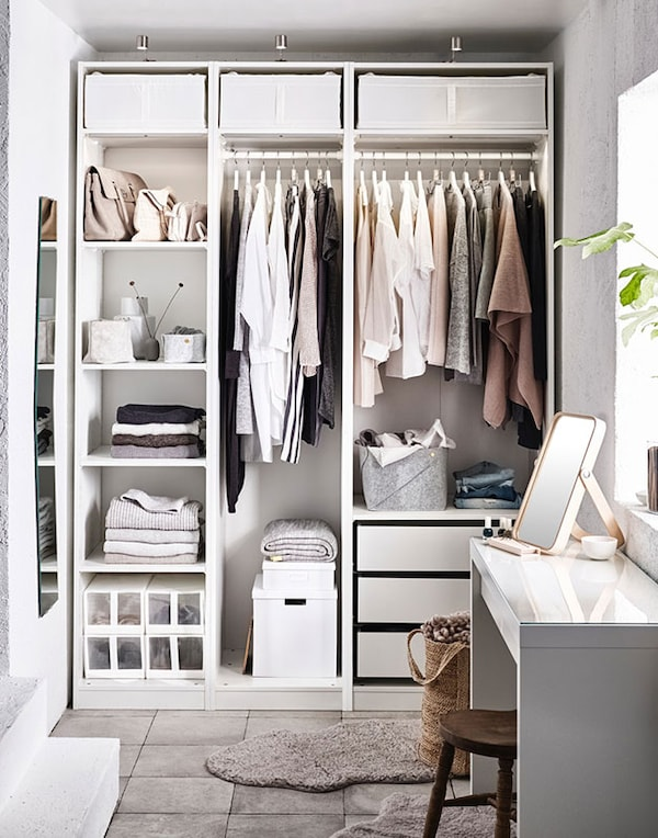 The joy of an organised wardrobe. - IKEA