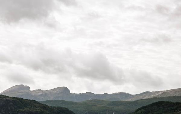 The mountainous Norwegian landscape.