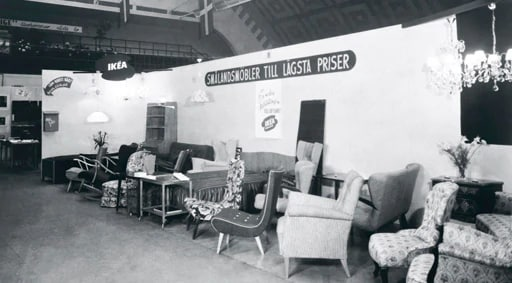 The very first IKEA showroom in Älmhult.