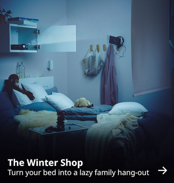 The Winter Shop. Turn your bed into a lazy family hang-out