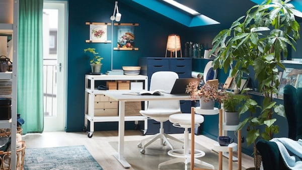 thuiswerken corona thuis bureaus werkplek ikea