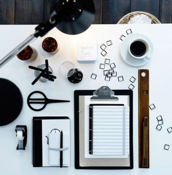 thuiswerken koffie bureauaccessoires ikea
