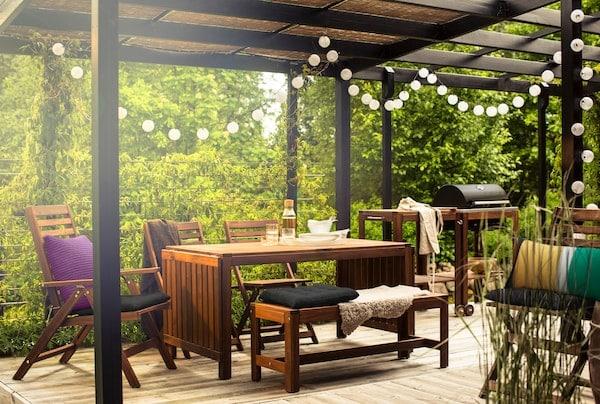 Tipps zum Möblieren eines größeren Außenbereichs
