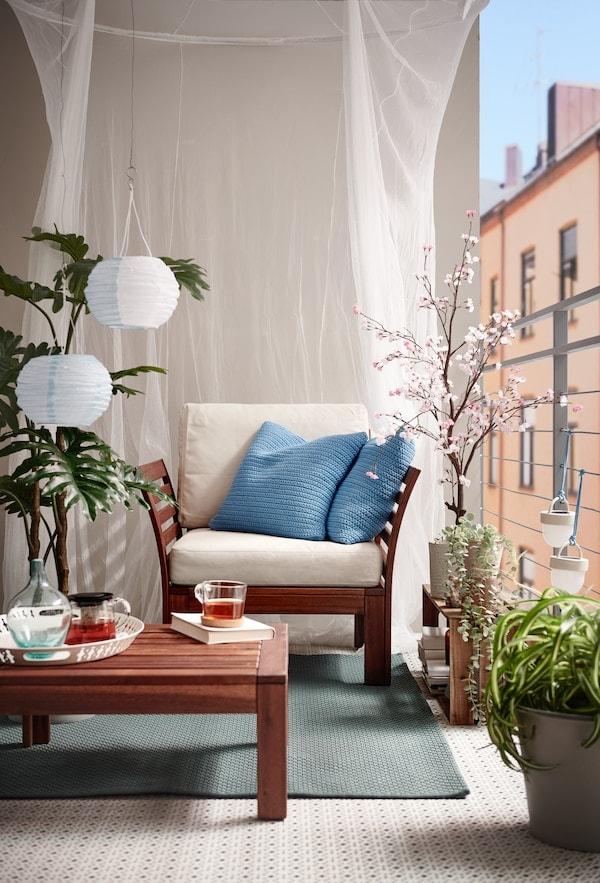 Tipps zum Möblieren eines kleineren Außenbereichs