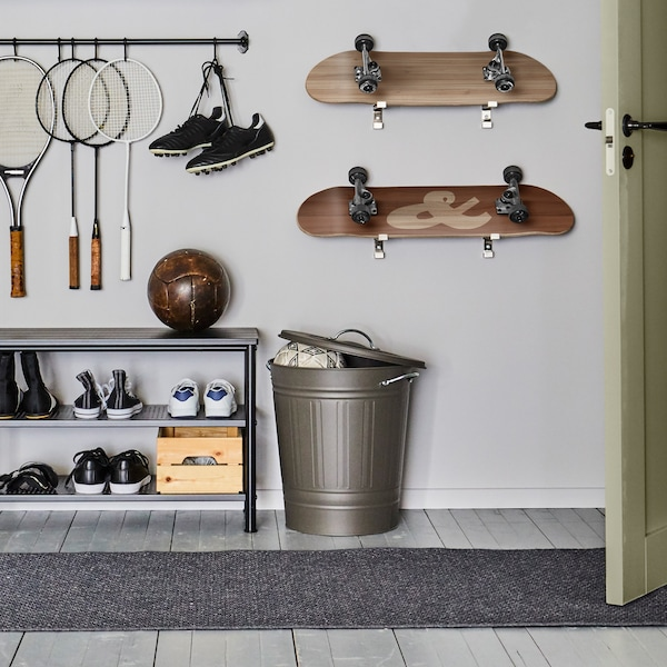 Tips for keeping gear for all activities tidy.