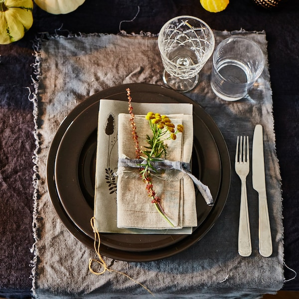 Tischdekoration für Herbst