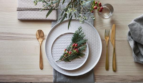 Tischdekoraton für Weihnachten