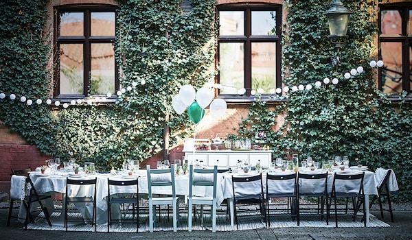 Tische für Hochzeiten draussen