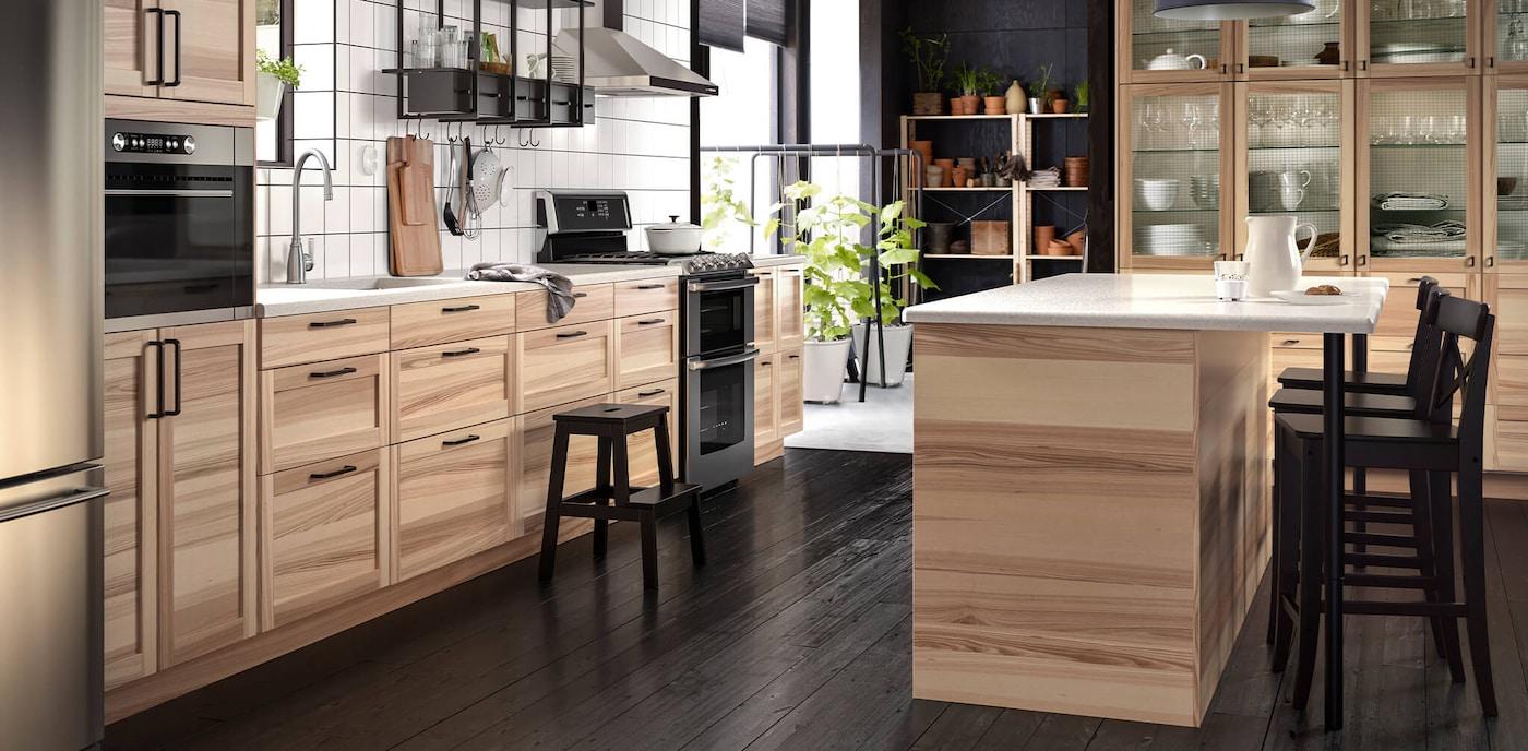 Natural Ash Kitchen Cabinets Torhamn Series Ikea