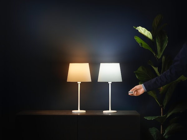 TRADFRI wireless light bulbs.