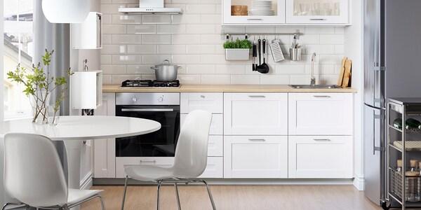 Seria Sävedal Biała Kuchnia Ikea