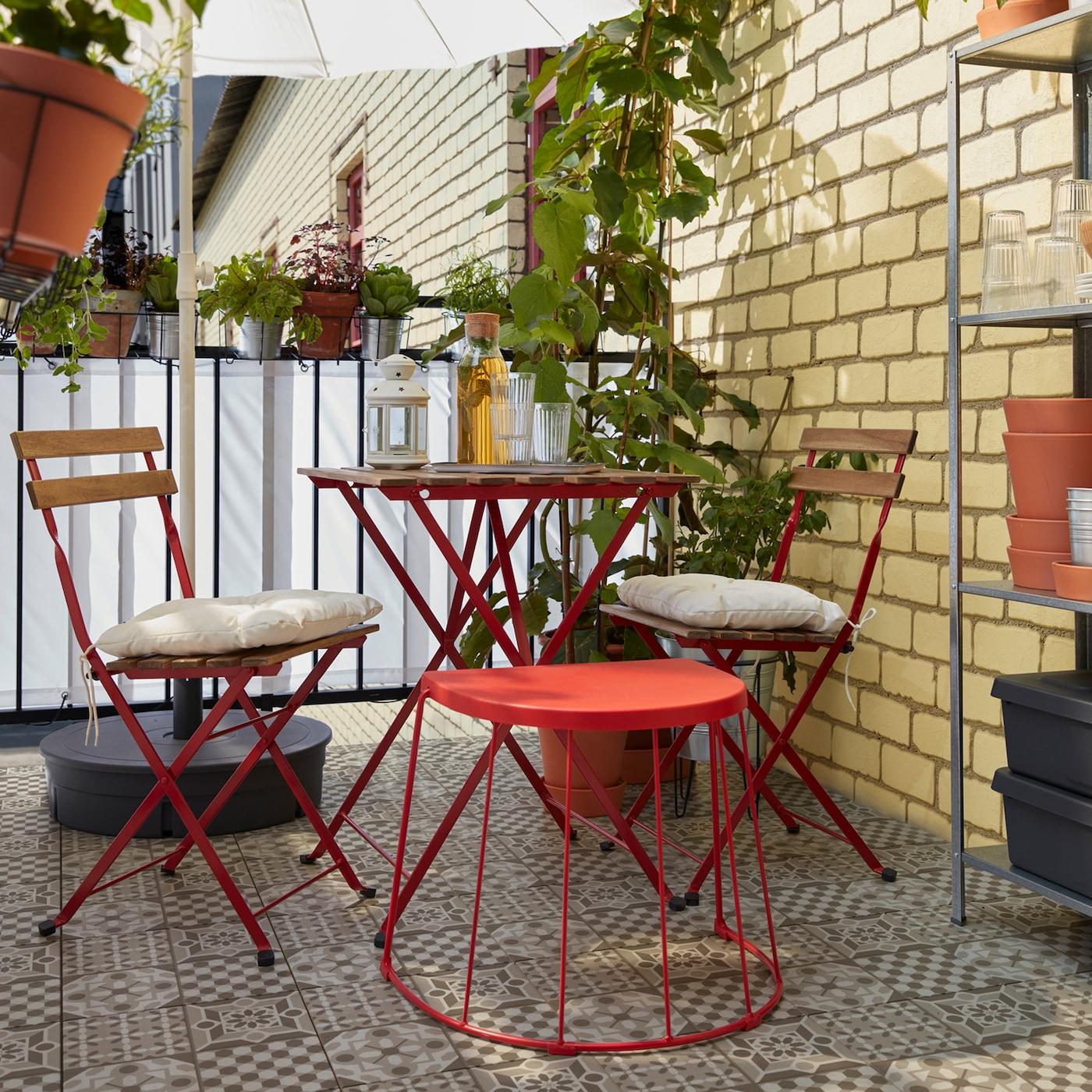 En balkongoase i den hektiske storbyen IKEA