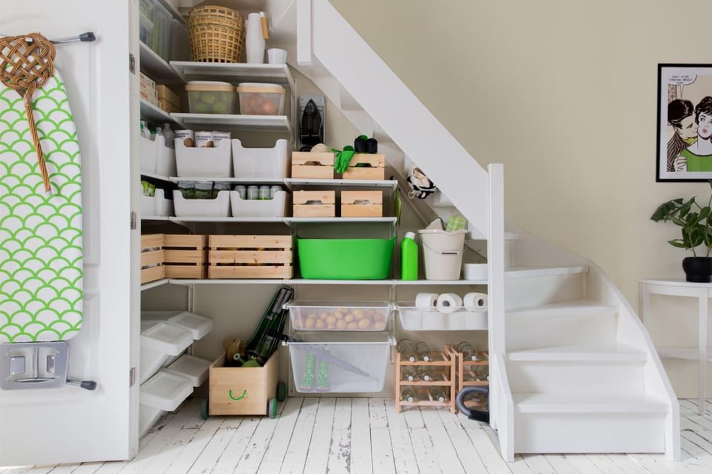 Trapkast ombouwen voorraadkast - tips - indeling - IKEA wooninspiratie