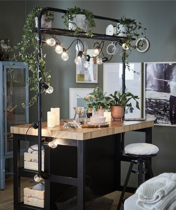 Trasforma l'isola per cucina in un piccolo rifugio dedicato al benessere - IKEA