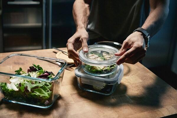 Tre contenitori per alimenti IKEA 365+ – IKEA