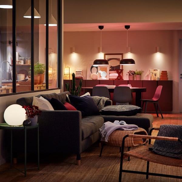 Tre modi per creare l'atmosfera giusta con le luci a LED.