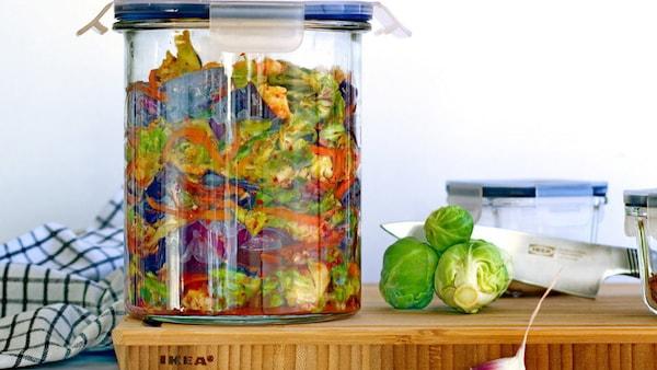 Trend-Rezept: Kimchi mit Rot- und Rosenkohl