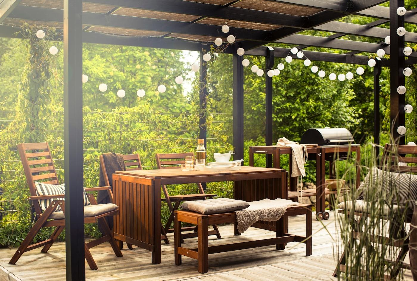 tuin balkon houten tuinmeubelen inspiratie voorbeelden applaro ikea