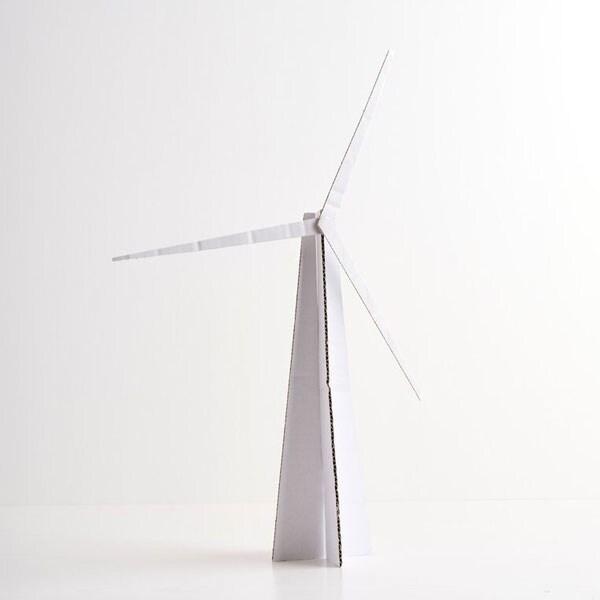 turbina wiatrowa z kartonu