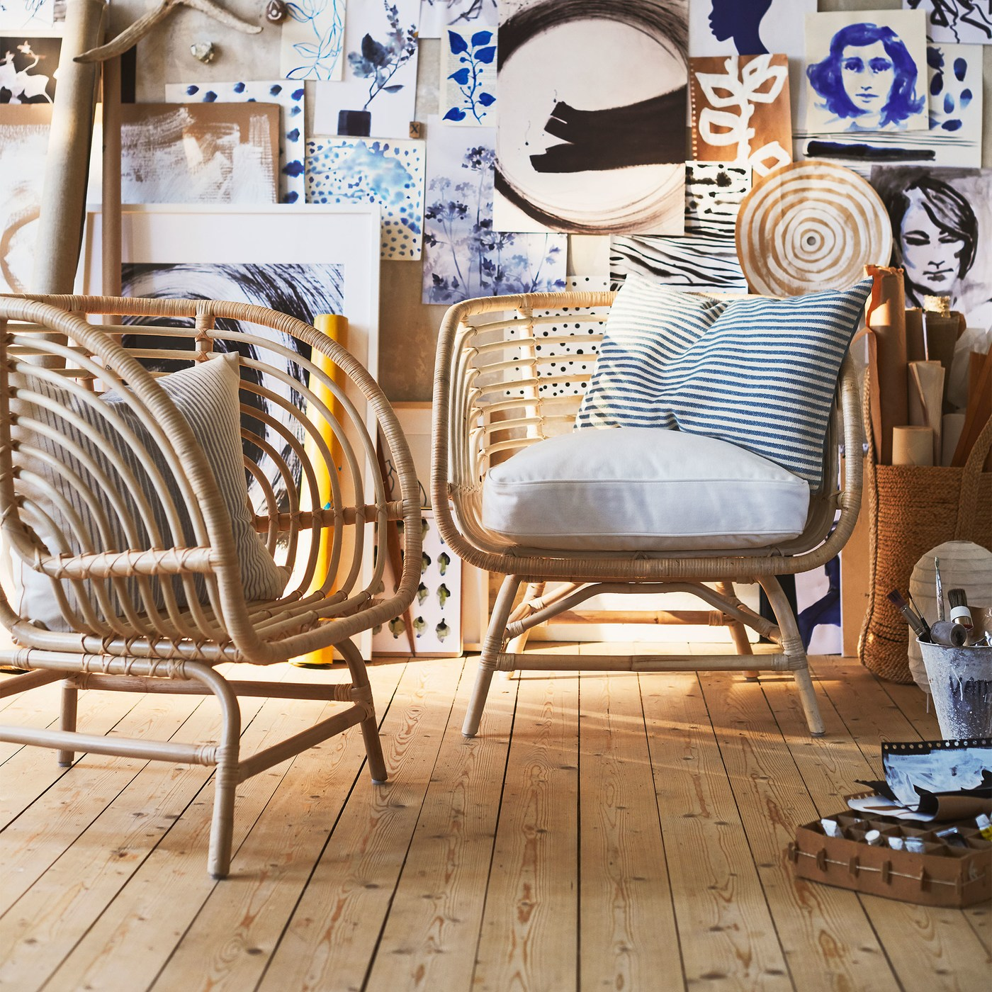 Sit back and relax with rattan seating - IKEA