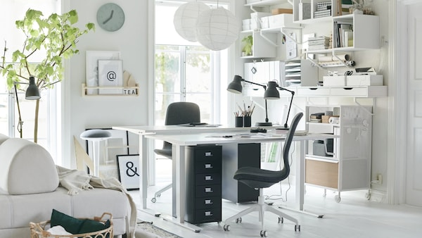 Office Decoration How To Set Up An In The Living Room Ikea