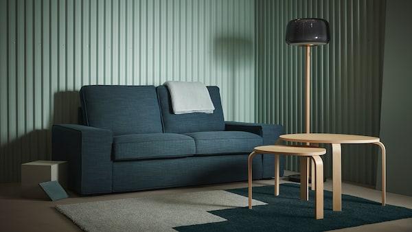 Two-seat sofa Hillared dark blue