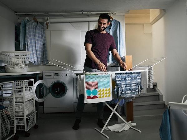 Udržateľnosť. MULIG sušiak na prádlo.
